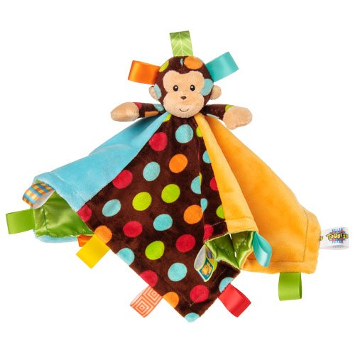 Taggies Dazzle Dots Character Blanket, Monkey front-578799