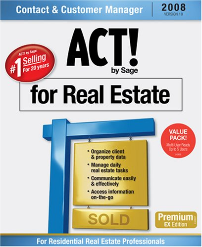 ACT! by Sage Premium for Real Estate 2008 (10.0) 5-User Pack