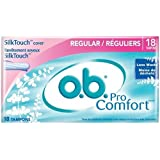 O.b. Pro Comfort Tampons, Regular, 18-Count Packages (Pack Of 4)