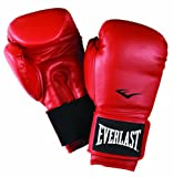 Everlast Leather Boxing Gloves - 16 oz, Red