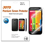 Motorola MOTO G Screen Protector - JOTO Anti Glare, Anti Fingerprint (Matte Finish) version Japanese Screen Protector Film Guard for 2013 Motorola MOTO G smartphone, with Lifetime Replacement Warranty (3 Pack)