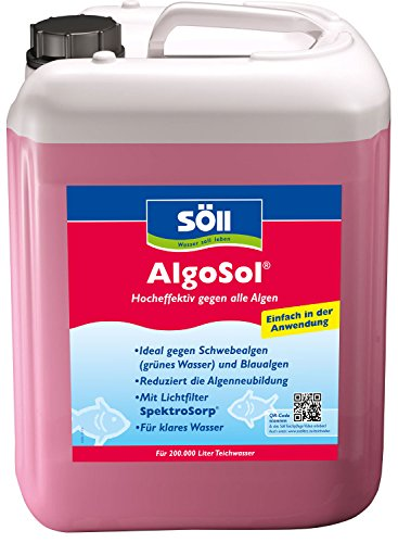 S ll 11160 algosol hocheffektiv gegen alle algen 10 l for Gartenteich algen