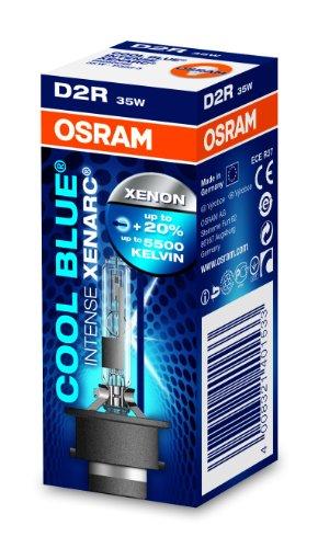 OSRAM XENARC COOL BLUE INTENSE D2R Lampada per proiettori allo Xeno 66250CBI 20% di luce in più - Confezione singola