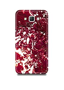 Red & White Marble Samsung E7 Case