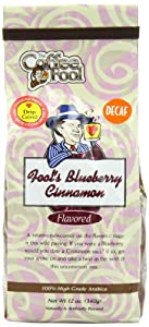 The Coffee Fool Drip Grind, Fool's Decaf Blueberry Cinnamon, 12 Ounce