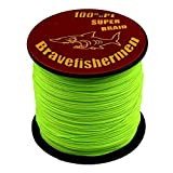 Fluorescent Green Super Strong Pe Braided Fishing Line 6LB to100LB (1000m, 20LB) (Tamaño: 1000M)