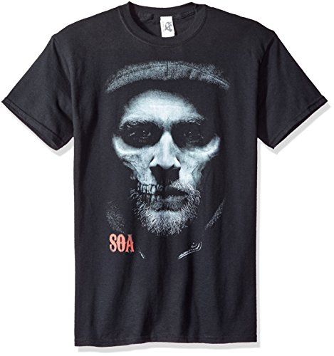 Sons Of Anarchy Tv Show Jax Skull Face Maglietta adulto Tee Black Medium