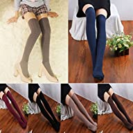Coromose Women Knit Over Knee Thigh S…