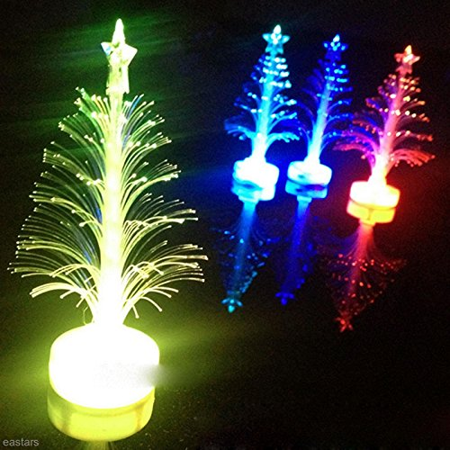 Yosoo 7 Colors Holiday Scene LED Fiber Optical Assorted Color Led Light up Christmas Tree Children Xmas Gift