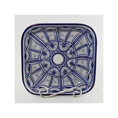 Le Souk Ceramique Qamara Design Square Serving Bowl (Sea Creature Pasta compare prices)