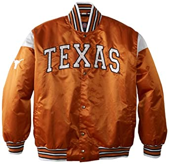 NCAA Texas Longhorns Big League Satin Jacket Mens by MTC Marketing, Inc