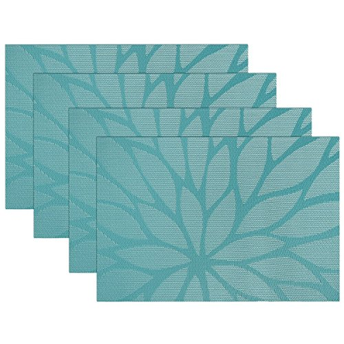 SiCoHome-Placemats-Dining-Room-Placemats-for-Table-Heat-Insulation-Stain-resistant-Woven-Vinyl-Kitchen-PlacematsSet-of-4
