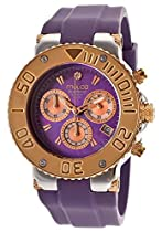Mulco Blue Marine Purple Dial Silicone Ladies Watch MW370602053