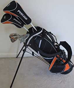 Junior Golf Clubs Set with Stand Bag for Kids Ages 5-8 Orange Color Premium Jr. Boys... by Jr Golf Professional
