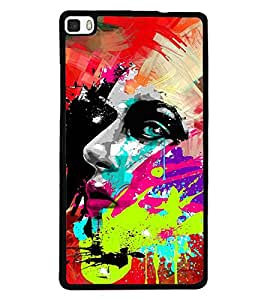 PRINTSWAG COLOUR PAINTING Designer Back Cover Case for HUAWEI P8