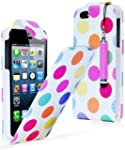 iPhone 4 POLKA DOT LEATHER FLIP CASE...