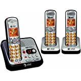 AT&T EL52300 DECT 6.0 Cordless Phone with Answering System and Caller ID/Call Waiting, 3 Handsets, Silver/Black