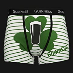 Guinness White Green Shamrock Boxers