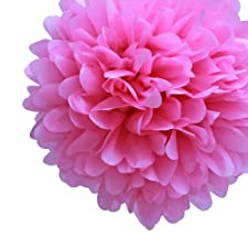 Para vestidos My Cupcake DMC7305K de papel de seda pompones decorativos, 35,56 cm, rosa, juego de 4