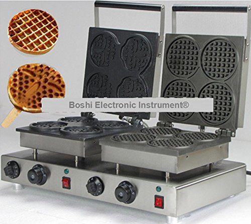 Boshi Electronic Instrument® NP-556 Commerical/Home Use 2 in 1 Waffle Baking System 110v 220v Electric Bear on A Stick and Mini Waffle Maker CE Certification (2 In 1 Waffle Maker compare prices)