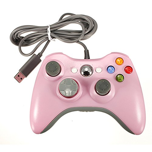 Meco Wired Usb Game Pad Controller Joypad For Microsoft Xbox 360 Pc Windows Pink