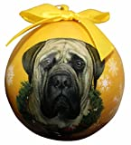 """Mastiff Christmas Ornament"" Shatter Proof Ball Easy To Personalize A Perfect Gift For Mastiff Lovers"