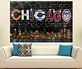 "Chicago Northside Street Skyline (36"" x 24"")"