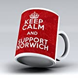 New Keep Calm And Support Norwich City FC 11OZ Tea Coffee Cup Mug