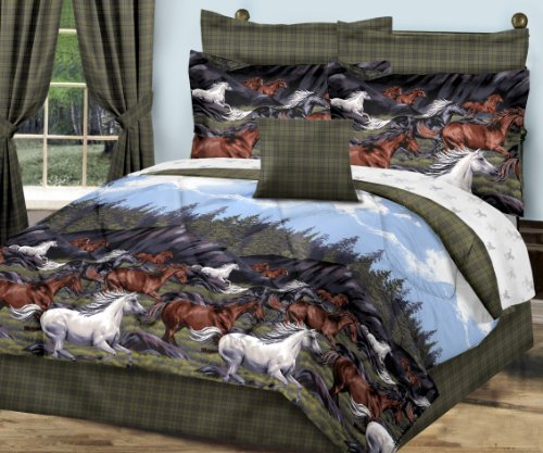 Twin Horse Comforter front-589907