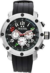 TW Steel Men's TW607 Dario Franchitti edition Black Rubber Chronograph Dial Watch