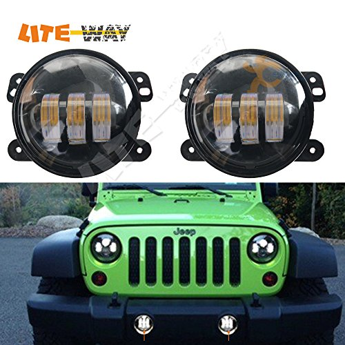 2015-New-LITE-WAY-Pair-4Inch-30w-Cree-LED-Fog-Driving-Lights-Halo-For-Trucks-Cars-Fits-Jeep-Wrangler-Dodge-Chrysler-Front-Bumper-Lights