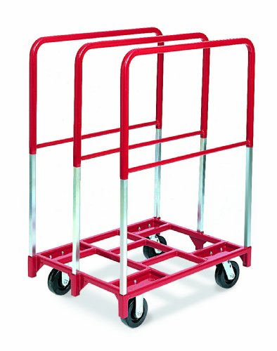 """Raymond 3846 Steel Panel Mover with 3 Extra Tall Upright and 6"""" x 2"""" Phenolic Caster, 2400 lbs Capacity, 38-1/2"""" Length x 27-1/2"""" Width from Raymond Products"""