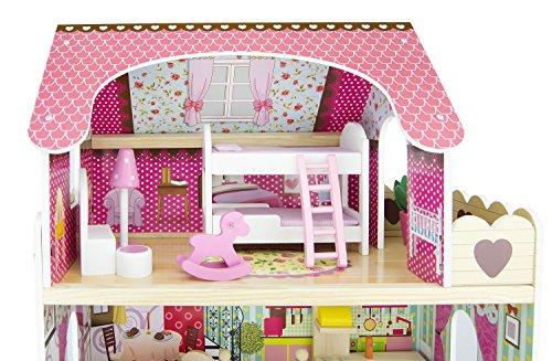 Leomark casa delle bambole sogno mansion in legno mobili for 4 piani di casa ranch di box auto