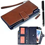 Ranboo PU Leather Universal Cellphone Wallet Case Purse With Wristlet For Iphone 6 Plus Iphone 6S 5S 5C 4S Samsung...