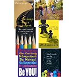 Motivational Poster Combo Pack - 6 Think Positively Themed Posters