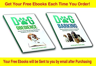 Anti Bark Collar for Pet Safe Dog Training and Dog Bark Control with no Harm Vibration Shock By Pet's Mum Offer Advanced Best Bark Collar for Small/Medium/Large Dog With Sensitivity Corrections, 2 Bonus E-books, 6V Battery- Christmas Gift, Buy Now!