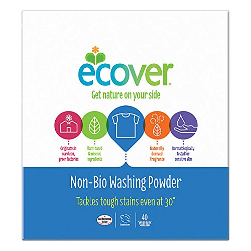 (6 PACK) - Ecover Concentrated Non Bio Washing Powder | 3kg | 6 PACK - SUPER SAVER - SAVE MONEY