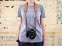 Camera strap Personalized camera strap Engraved camera strap Monogramed camera strap Horween leather camera strap DSLR camera strap Gift