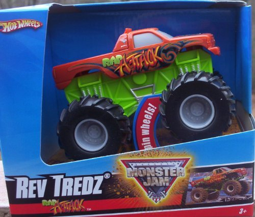 2009 Hot Wheels Monster Jam RAP ATTACK Rev Tredz Official Monster Truck Series 1:43 Scale