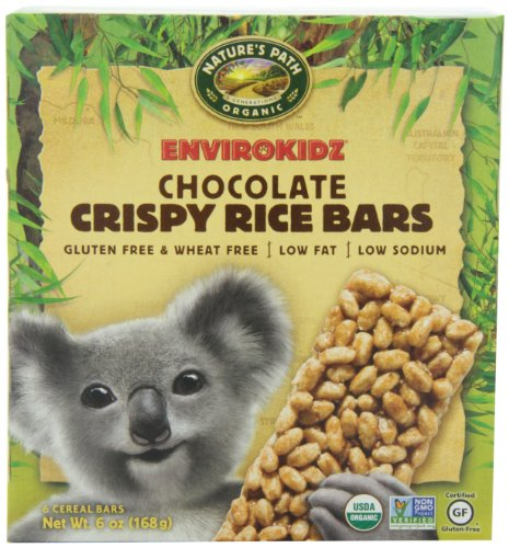 EnviroKidz Organic Koala Crispy Rice Bars, Chocolate, 6-Count Bars, 6 OZ (Pack of 6) (Rice Crispy Gluten Free compare prices)