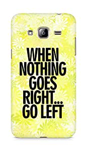 AMEZ when nothing goes right go left Back Cover For Samsung Galaxy J3 (2016 EDITION)