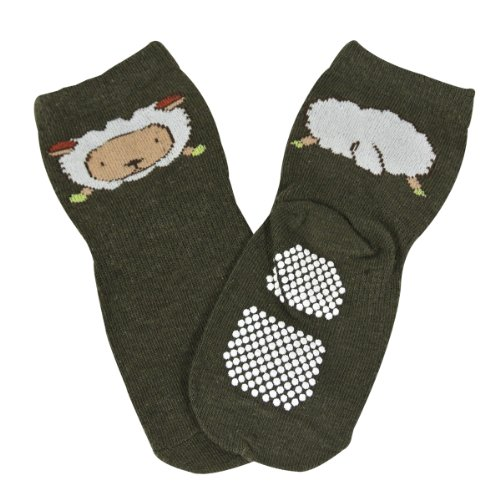 Wrapables Animal Fun Non Skid Baby Socks Set of 5