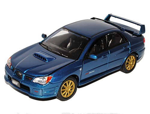 subaru-impreza-wrx-sti-blau-limousine-2007-1-24-motormax-motor-max-modellauto-modell-auto