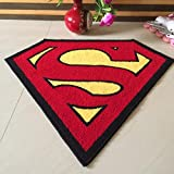 Cunada Superman Design Kids Bedroom Carpet Floor Mat Couch Rug