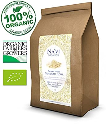EXTRA Premium Organic Peeled Tiger Nut Flour (Finely Ground) - Crunch FREE