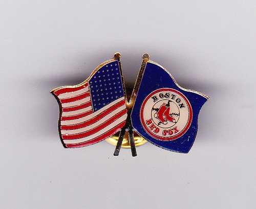Boston Red Sox Baseball American USA Flag Enamel Hat Lapel Logo Pin at Amazon.com