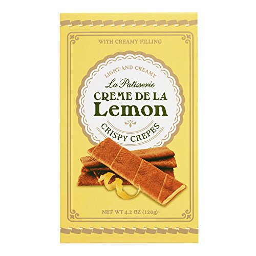La Patisserie Creme De La Lemon Crispy Crepes with Rich and Creamy Filling 120g (Creme De La Crepe compare prices)