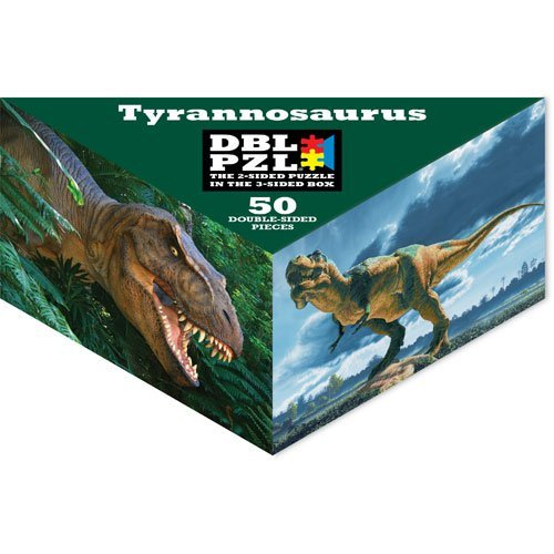 Tyrannosaurus DBL PZL 50 Pc Double Sided Jigsaw Puzzle - 1
