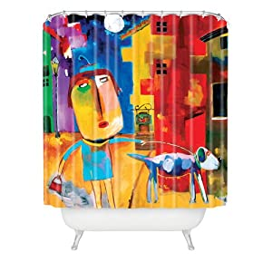 DENY Designs Robin Faye Gates Sylvia Needs Eggs Shower Curtain, 69-Inch by 72-Inch