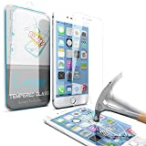 iPhone 6 Screen Protector, Enther® [Retina Sense]iPhone 6 4.7 Inch Premium High Definition Shockproof Clear Tempered Glass Screen Protector 0.3mm Thickness 2.5D Curved Edge for iPhone 6 4.7 Inch - Retail Packaging